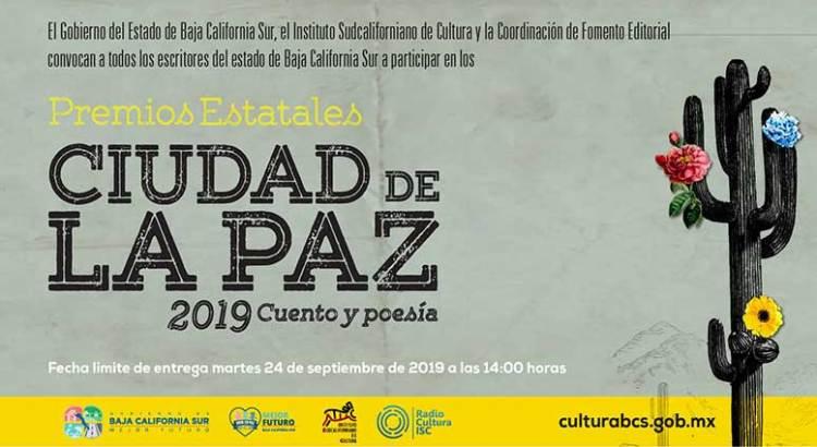 Convocan a los Premios Estatales Ciudad de La Paz