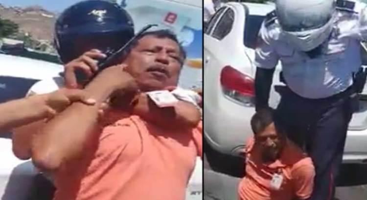 Con lujo de violencia someten policías cabeños a conductor de UBER