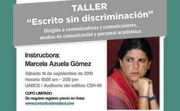 """Invitan al taller """"Escrito sin discriminación"""""""