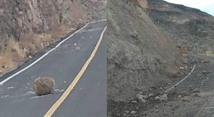Derrumbe bloquea carretera a San Juan de la Costa