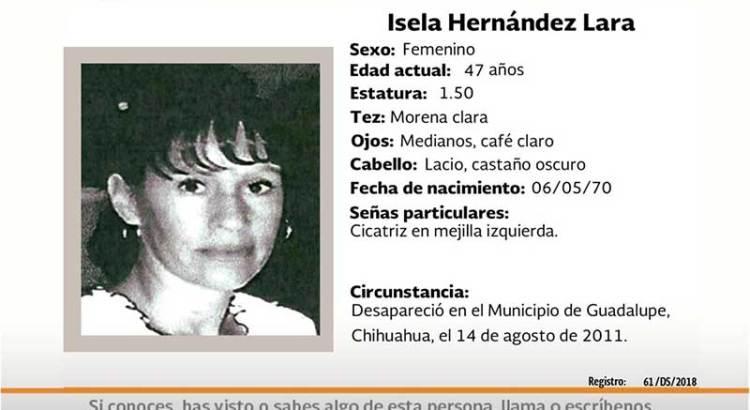 ¿Has visto a Isela Hernández Lara?