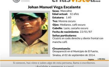 ¿Has visto a Johan Manuel Vega Escalante?