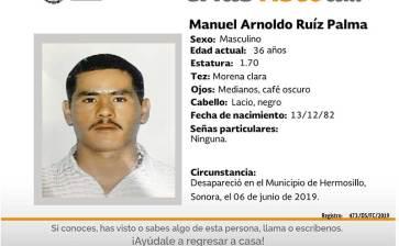 ¿Has visto a Manuel Arnoldo Ruíz Palma?