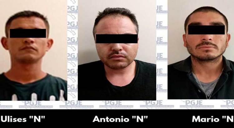 Con más de 2 mil dosis de cristal agarraron a Ulises, Antonio y Mario