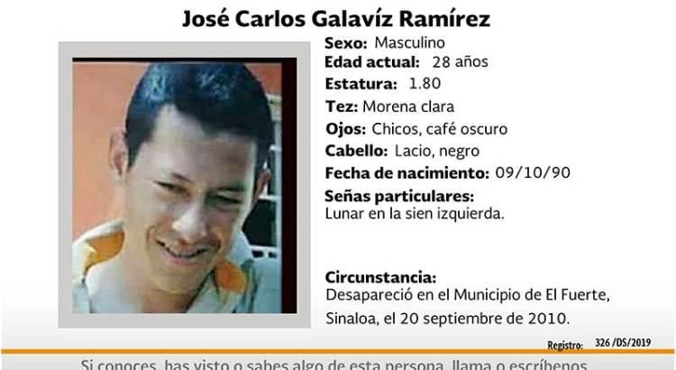 ¿Has visto a José Carlos Galaviz Ramírez?