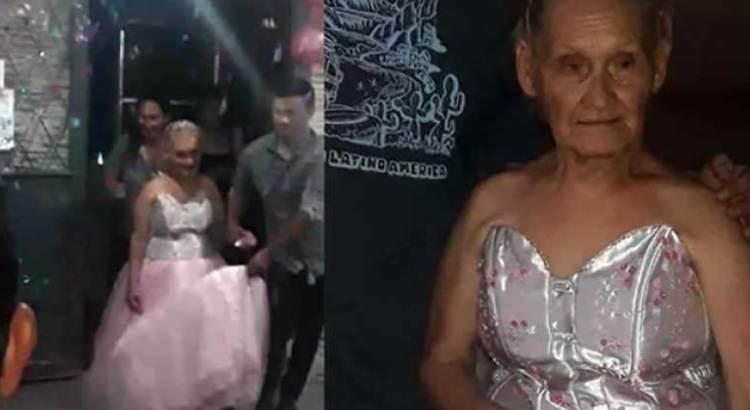 Celebró sus XV… a los 79 años