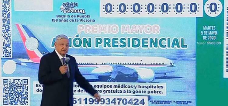 Decidido: el 15 de septiembre se rifará el avión presidencial