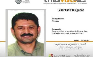 ¿Has visto a César Ortíz Burgueño?
