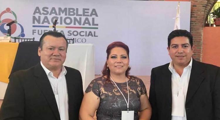 Presente BCS en la constitución de Fuerza Social por México como partido