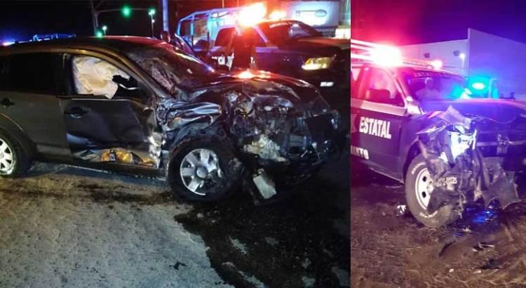 Aparatoso accidente a la entrada de Camino Real