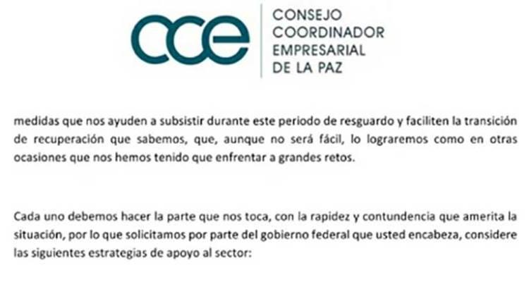 Piden empresarios de La Paz apoyo a AMLO