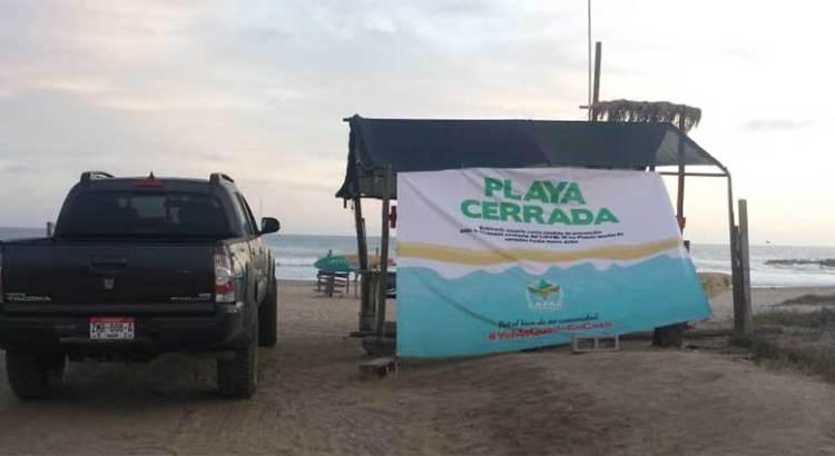 Cerradas todas las playas de La Paz