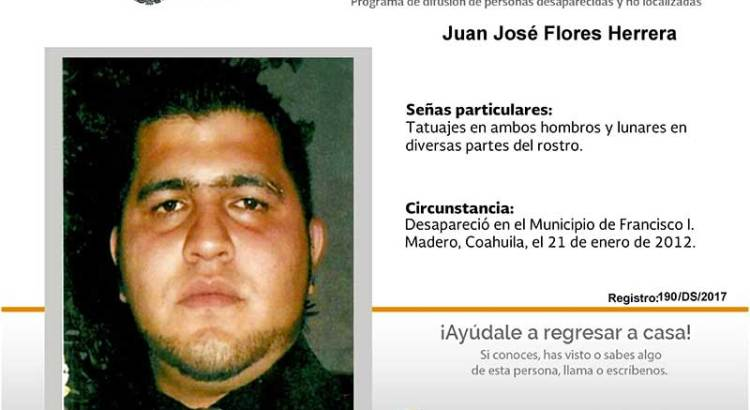 ¿Has visto a Juan José Flores Herrera?