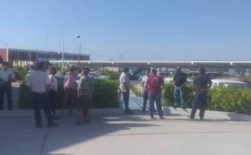 Se manifestaron trabajadores del Ayuntamiento de La Paz