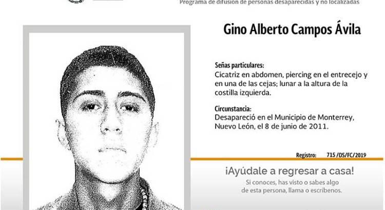 ¿Has visto a Gino Alberto Campos Avila?