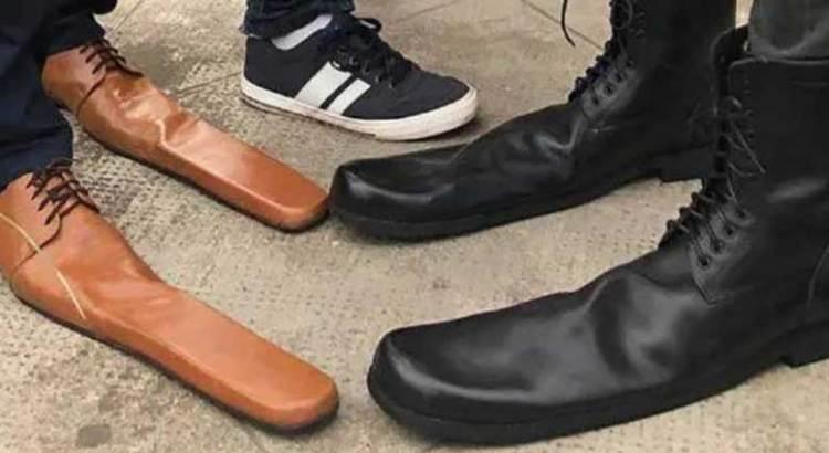 Crean zapatos de distanciamiento social