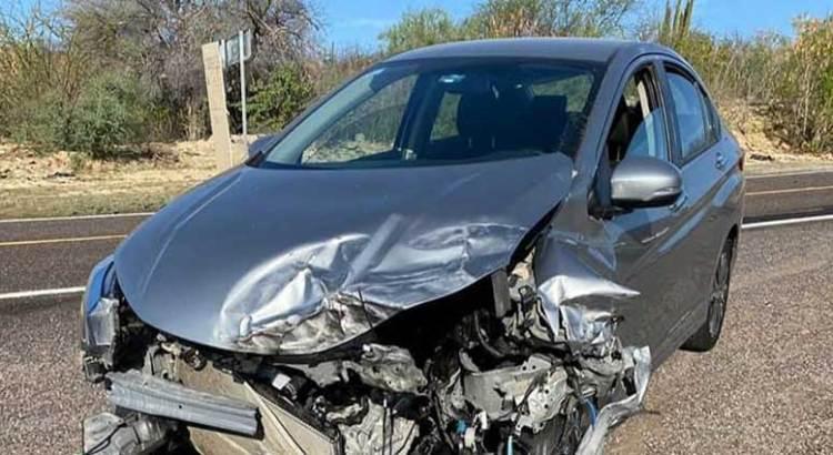 Aparatoso accidente en la carretera La Paz-San Bartolo