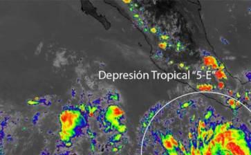 "Se forma la depresión tropical ""Cinco-E"""