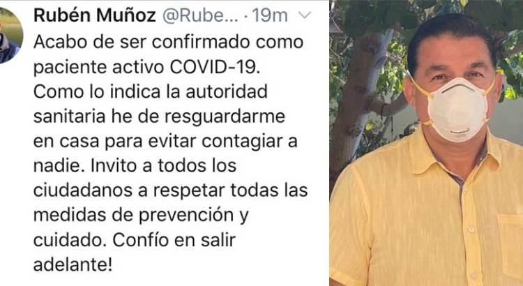 Da el Alcalde de La Paz positivo a COVID-19