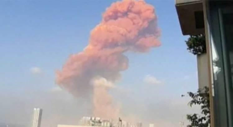 Dos enormes explosiones se registran en Beirut