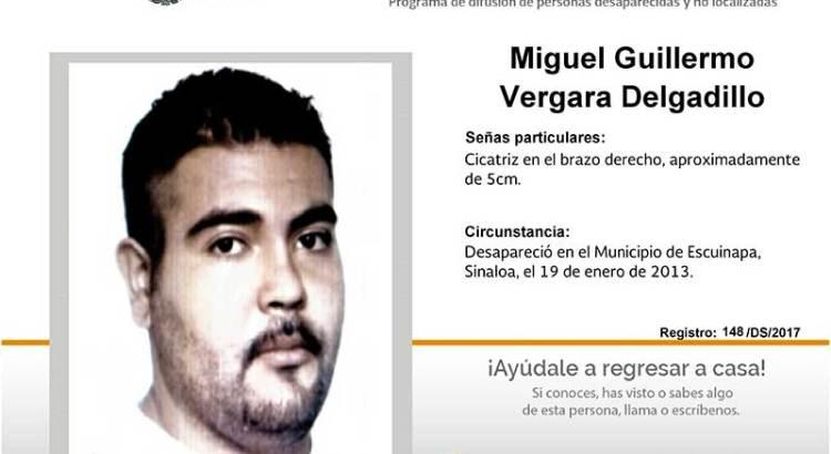 ¿Has visto a Miguel Guillermo Vergara Delgadillo?