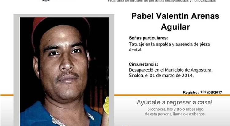 ¿Has visto a Pabel Valentín Arenas Aguilar?