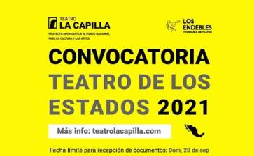 """Convocan a """"Teatro de los Estados 2021"""""""