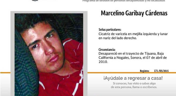 ¿Has visto a Marcelino Garibay Cárdenas?