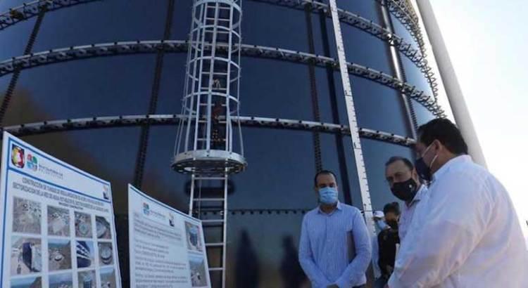 """Construyen tanque """"vidriado"""" en la colonia Loma Obrera"""