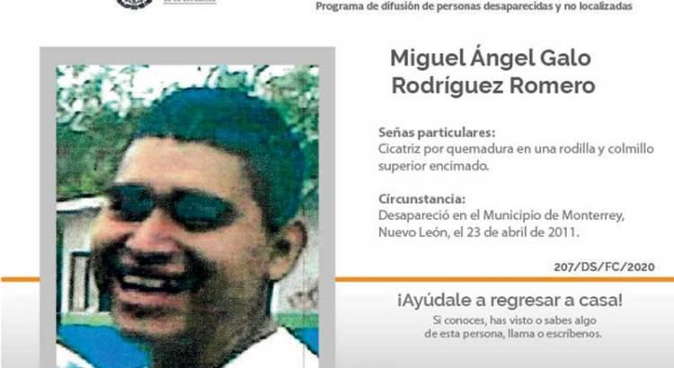 ¿Has visto a Miguel Angel Galo Rodríguez Romero?