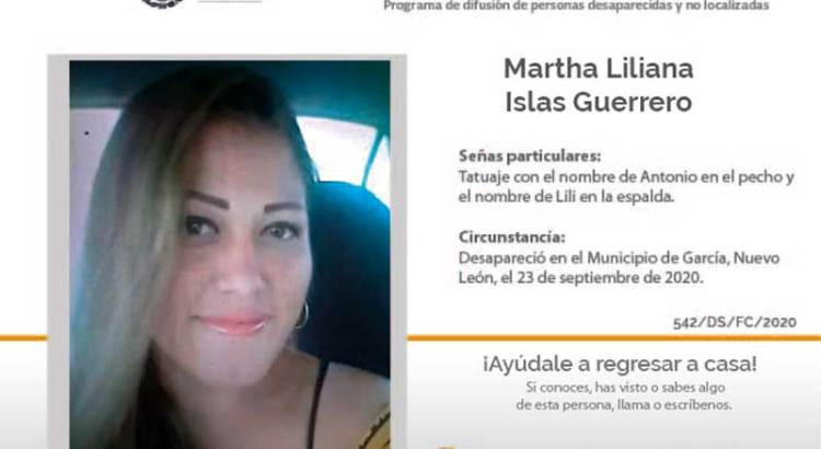 ¿Has visto a Martha Liliana Islas Guerrero ?