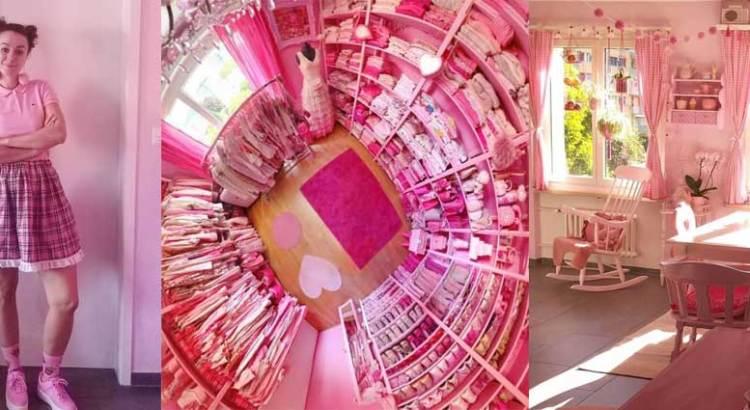 Vive en un mundo color de rosa