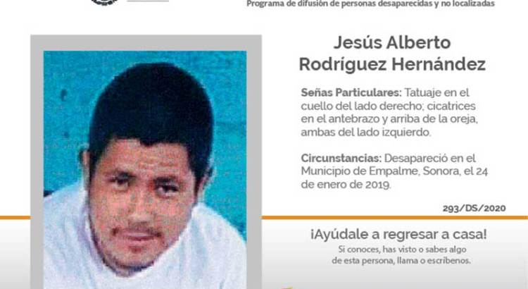 ¿Has visto a Jesús Alberto Rodríguez Hernández?
