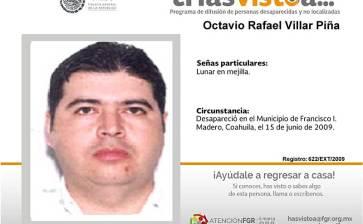 ¿Has visto a Octavio Rafael Villar Piña?