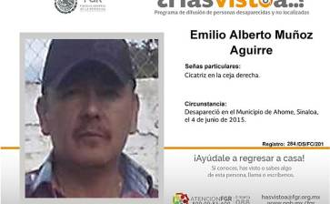 ¿Has visto a Emilio Alberto Muñoz Aguirre?