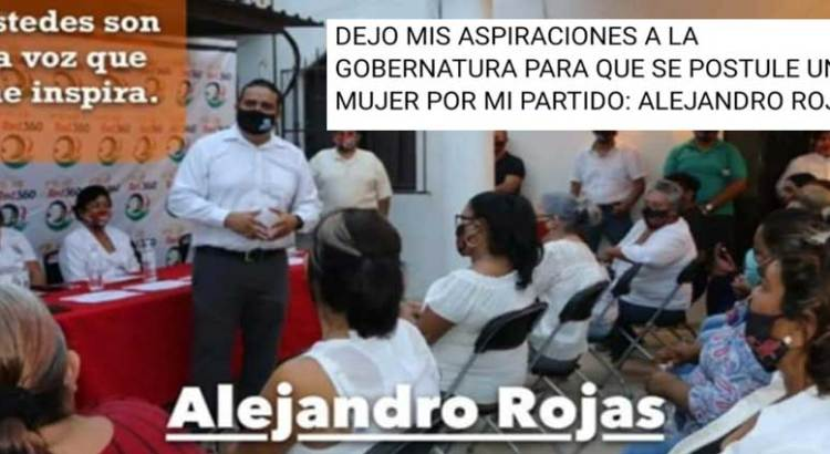 Ya no buscará Alejandro Rojas la gubernatura