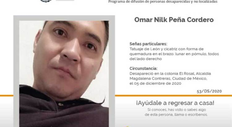 ¿Has visto a Omar Nilk Peña Cordero?