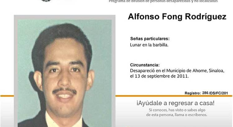 ¿Has visto a Alfonso Fong Rodríguez?