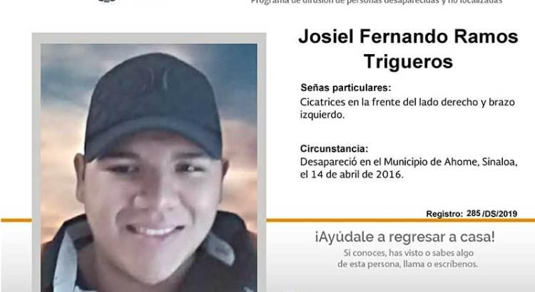 ¿Has visto a Josiel Fernando Ramos Trigueros?