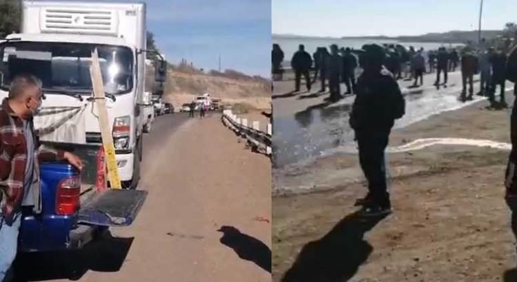 Cierran trabajadores municipales muleginos la carretera federal