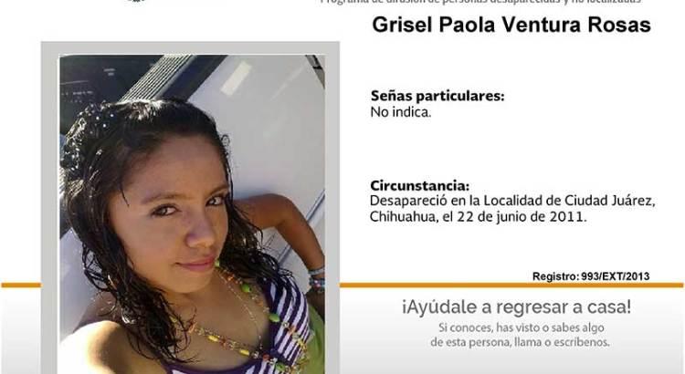 ¿Has visto a Grisel Paola Ventura Rosas?