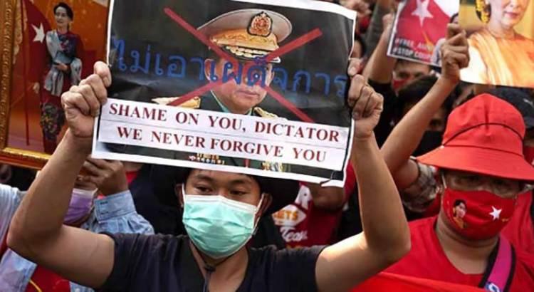 Condena la comunidad internacional golpe de Estado en Myanmar