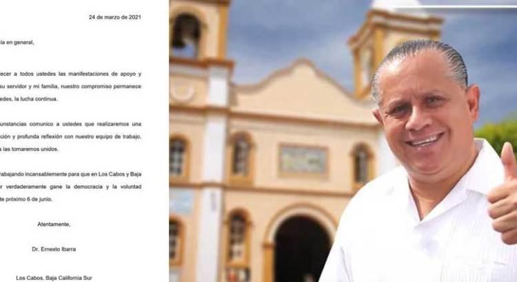 """Hará Ernesto Ibarra una """"amplia valoración y profunda reflexión"""""""