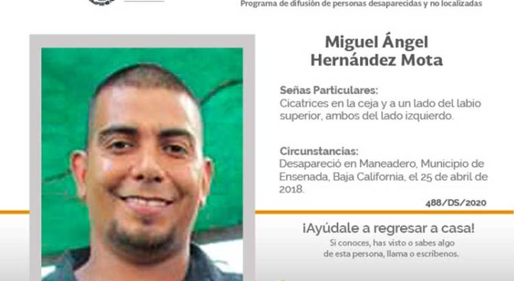 ¿Has visto a Miguel Angel Hernández Mota?