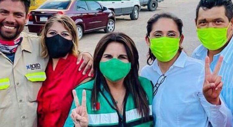 """Dio Armida Castro """"todo su apoyo"""" a trabajadores de El Boleo"""