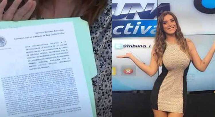 Renuncia a su candidatura la hija de Mercedes Maciel