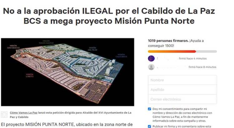 Levantan firmas contra Misión Punta Norte