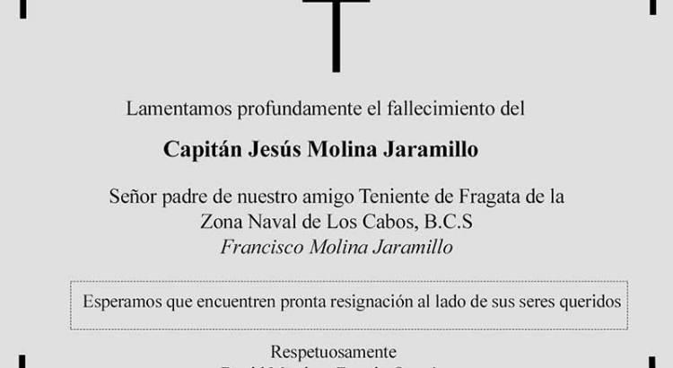 Descanse en paz el Capitán Jesús Molina Jaramillo