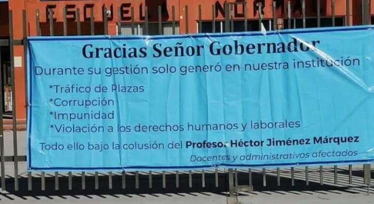 """""""Agradecen"""" al Gobernador los trabajadores y docentes de la Normal"""