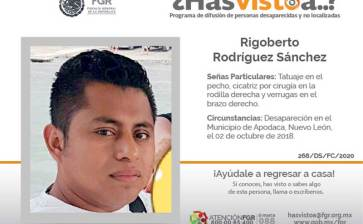 ¿Has visto a Rigoberto Rodríguez Sánchez?